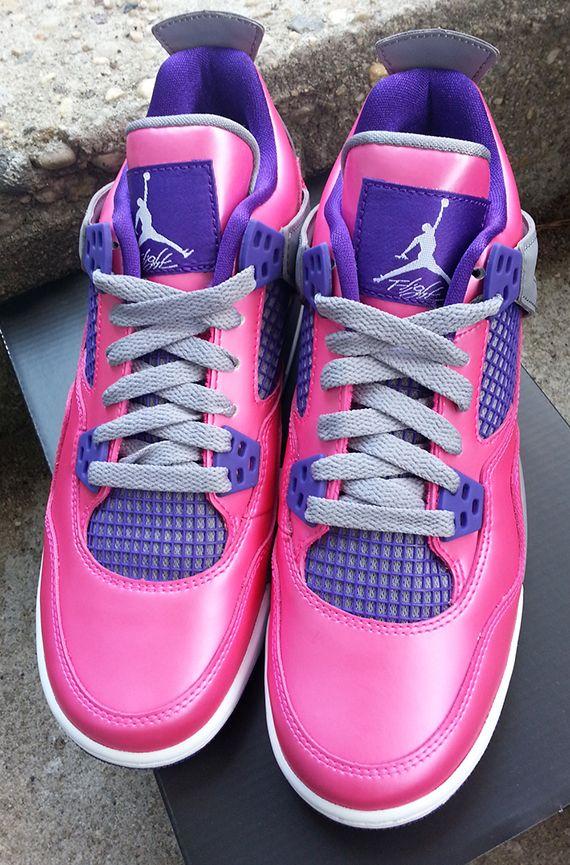 394303301ba Air Jordan IV GS Pink Flash Pink Foil 487724 607