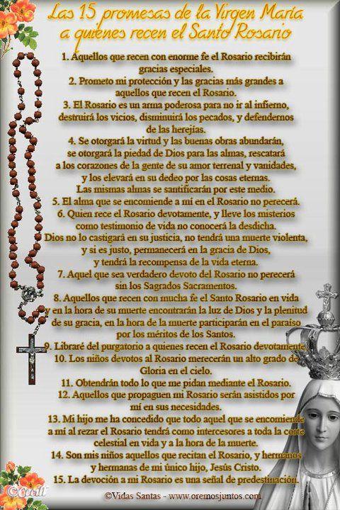 Promesas de la Virgen si rezas el rosario
