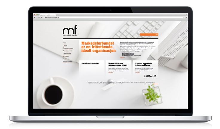 Webside for Markedsforbundet.