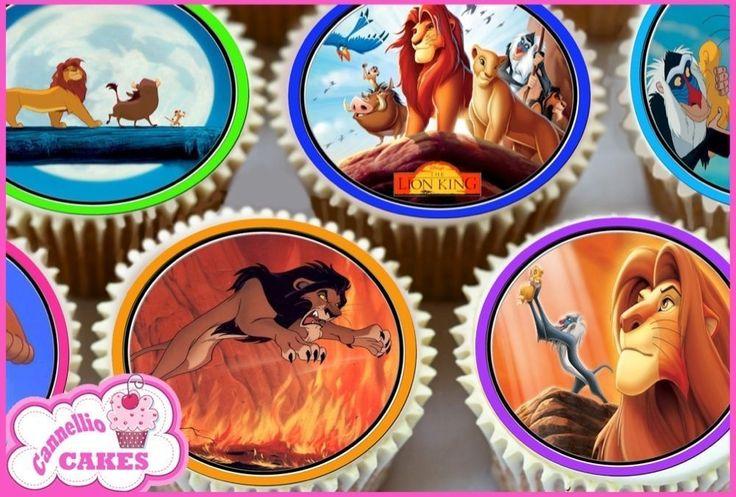 24 X LION KING EDIBLE CUPCAKE TOPPERS CAKE WAFER PREMIUM RICE PAPER 7635