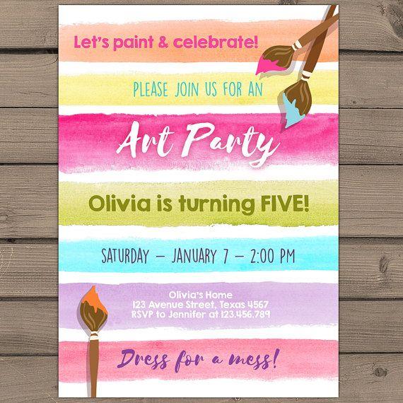 Invitan a fiesta cumpleaños invitación arco por Anietillustration
