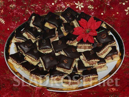 Kávové čtverečky s kakaovým krémem dia