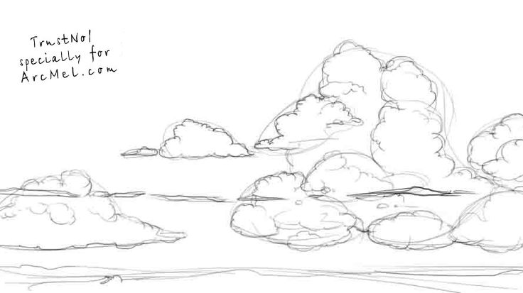 How to draw the sky step 3