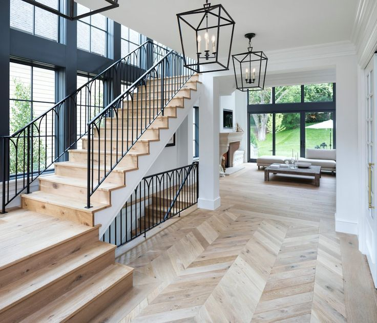 Gorgeous French Modern Home With Light Wooden Natural Floors And A