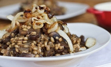 mushroom & caramelized onion risotto | Food | Pinterest