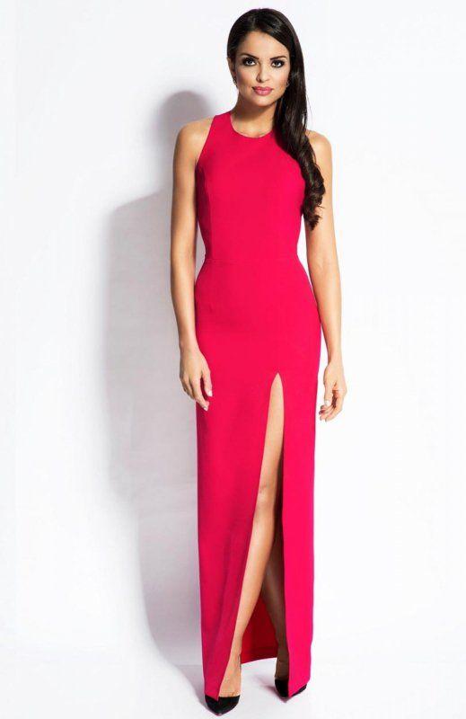 Dursi Giselle sukienka fuksja Niespotykana sukienka, bardzo kobieca i wygodna, dopasowany fason