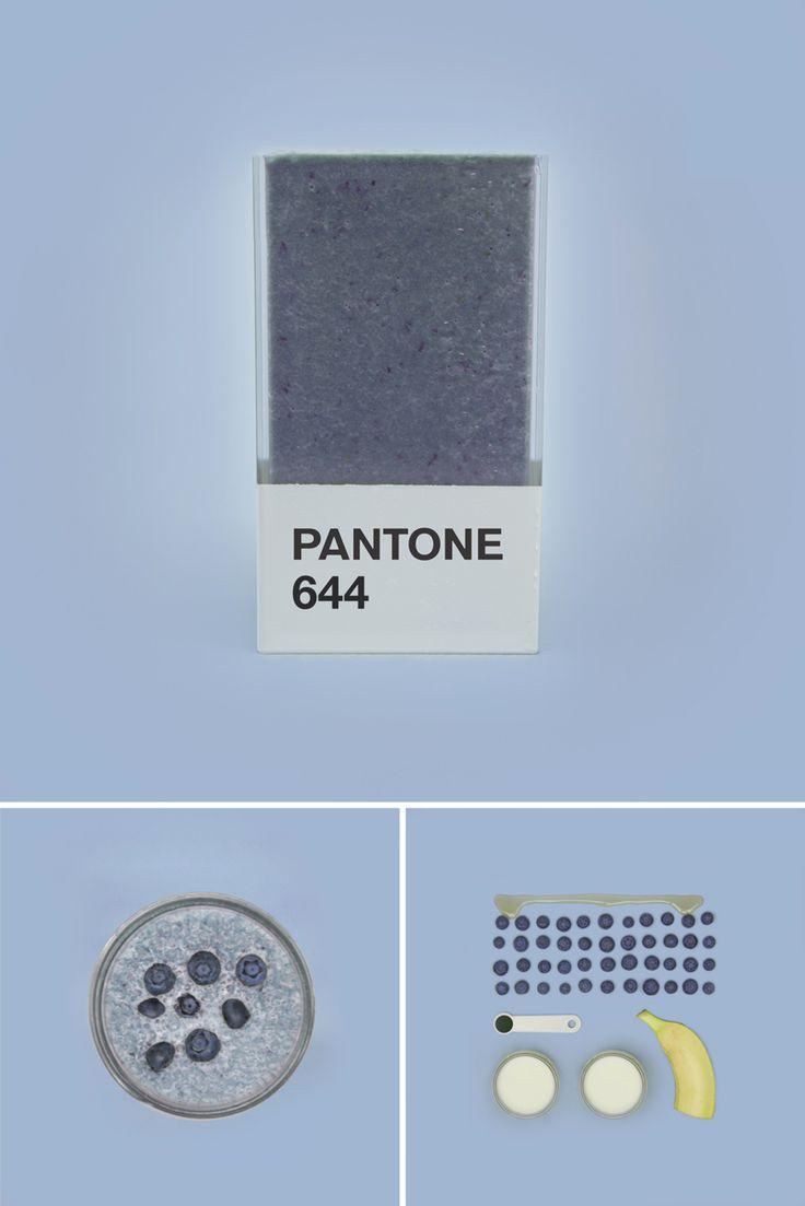 Pantone 644C. Pantone Smoothies – Recréer les couleurs Pantone avec des fruits mixés. Couleur Pantone.