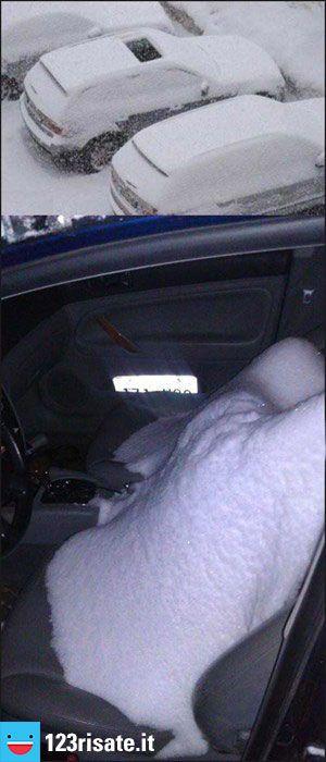 Amore, sta nevicando, hai chiuso il parasole della macchina?