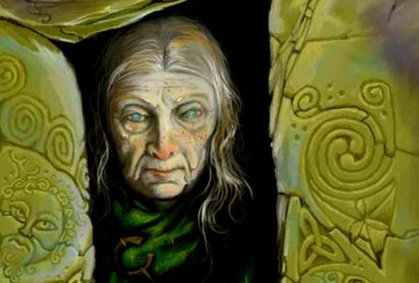 """""""Caillech Bhearra ,Queen of Winter and Lady of the Beasts -the mother-goddess, shaper and guardian of the land, and a consort of kings. Also regarded as a wilderness figure which has associations with the storms of winter, the storm clouds, the winter sea, and other manifestations of wild nature In one interpretation ,Cailleach Bhearra , would appear to represent a version of traditions of a mother-goddess emanating from the worlds of Indo-European and even old European cosmology..."""""""