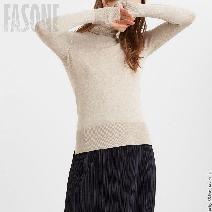 Купить Водолазка бежевая. Женская водолазка - свитер водолазка свитер, водолазка…