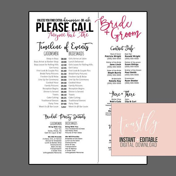 Pinterestu0027teki 25u0027den fazla en iyi Wedding timeline template fikri - wedding timeline template