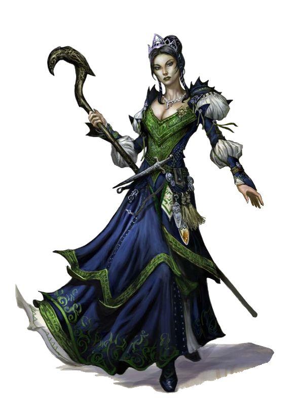 Female Elf Pathfinder Wizard