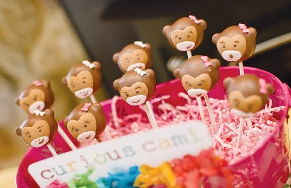 Google Image Result for http://cdn.hostessblog.com/wp-content/uploads/2012/04/curious-george-monkey-cake-pops.jpg: Cakes Cookies Treats, Candy Cake Pops, Birthday Parties, Cupcakes And, Abigail S Birthday, Baby Birthday, Monkey Cakepops, Clare S Birthday, Birthday Party