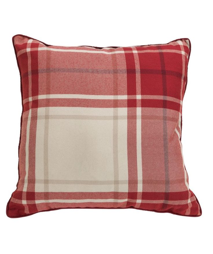 buy heart of house angus check cushion red at. Black Bedroom Furniture Sets. Home Design Ideas