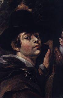 Jacob Jordaens - Γιάκομπ Γιόρντενς Λεπτομέρεια από Αυτοπροσωπογραφία με τους γονείς και τα αδέρφια (1615)