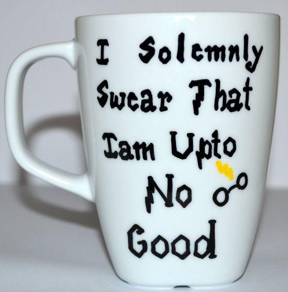 Harry Potter Mug  I Solemnly Swear That I am Upto by DreamAndCraft, $15.00