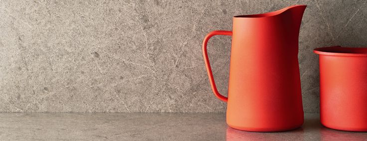 Our 5133 Symphony Grey with a colourful jug welcoming spring! #Caesarstone #Spring