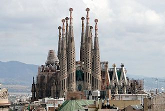 Gaudi's architectural masterpiece was the Sagrada Familia. Construction began in 1882 and continues to this day.