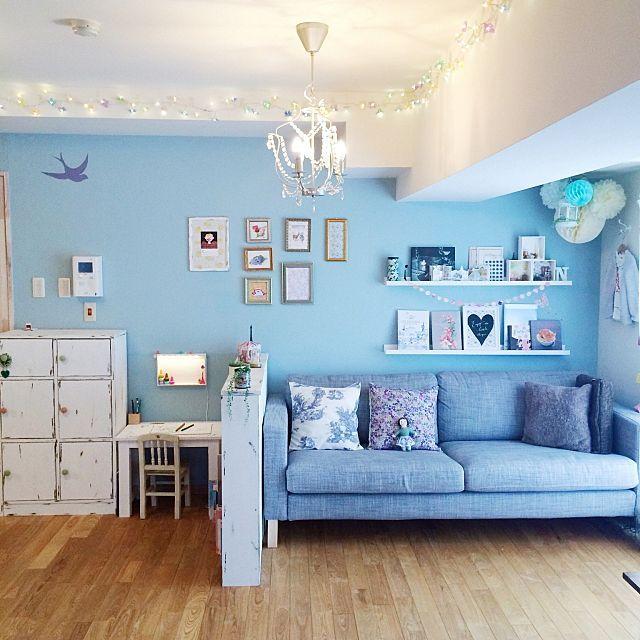 女性で、、家族住まいのDIY/IKEA/部屋全体についてのインテリア実例を紹介。「ソファの上でボーッと過ごすのが好きです。」(この写真は 2015-03-09 16:11:15 に共有されました)