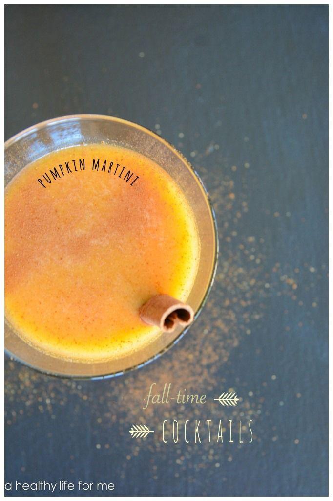 Fall Pumpkin Martini Recipe   ahealthylifeforme.com