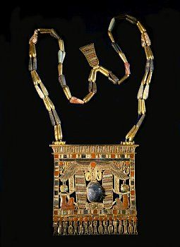 Psusennes I Winged scarab pectoral chain