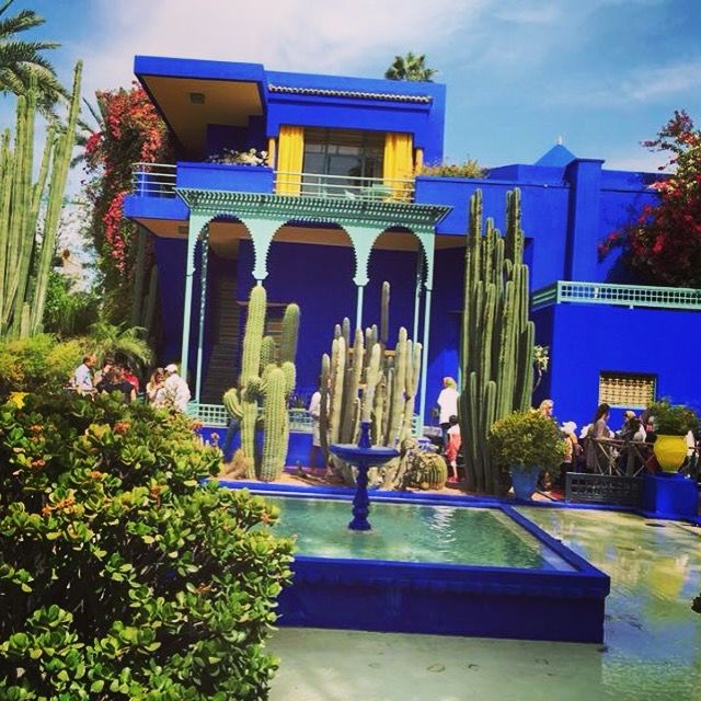 Le jardin majorelle marrakech pinterest saint for Le jardin majorelle