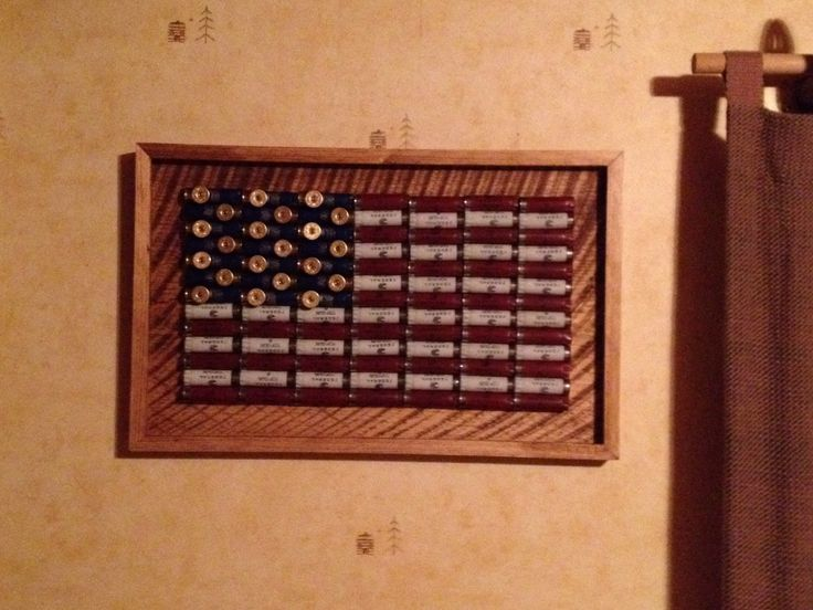 American Flag Shotgun Shell Framed Wall Art Buckshot