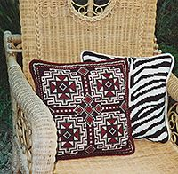 Another Kilim pattern for stitching - SOUMAK - shown with ZEBRA - cross-point.com TM