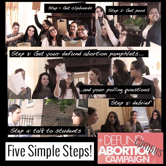 Five Simple Steps to Start the Conversation on YOUR campus! #DefundAbortion #Campus Campaign! #CLCYouth