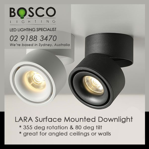 12w Led Surface Mounted Adjustable Downlight Is Great For Angled Ceilings While Managing A Levelled Ligh Angled Ceilings Exposed Rafters Surface Mount Lighting