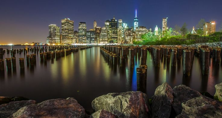 this is the Manhattan skyline at night from the Brooklyn side.. This is one shot I wanted to take. :)   loving NYC...