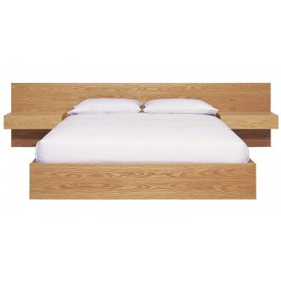 Zuster Raw Bed With Extended Bedhead. Made in American Oak in your choice of finish. Price from $5950.