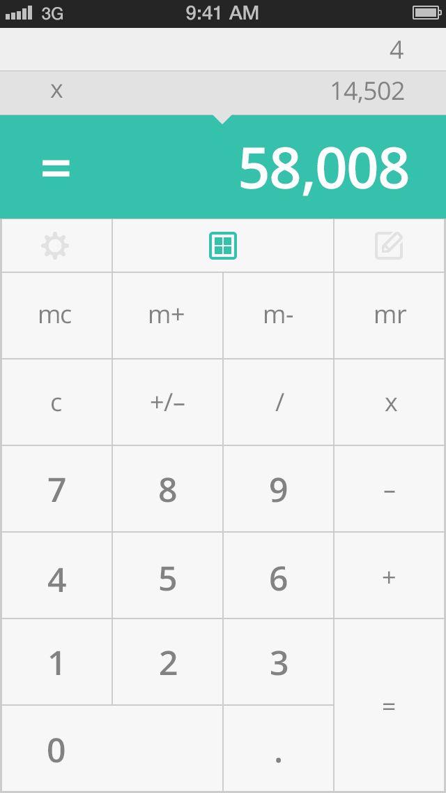 Crisp Calculator (WIP-SumIT) by Jamie Heuze #iPhone #UI #mobile #calculator