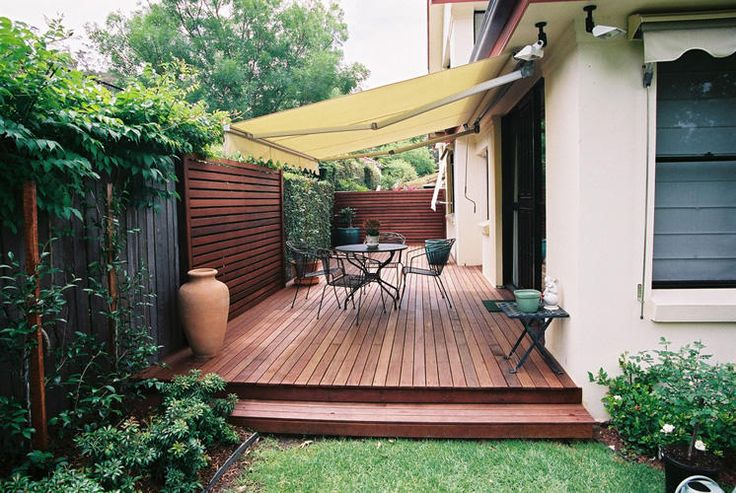 Beautiful, simple deck area