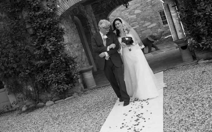 Walking the Aisle - Outdoor Tuscany Wedding