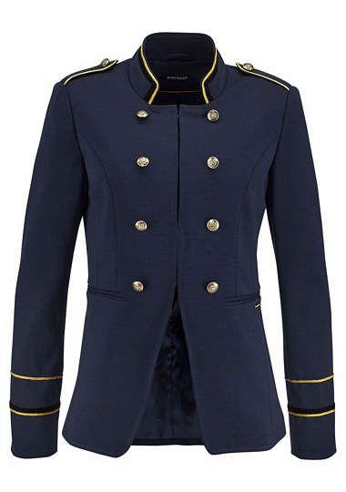 BRUNO BANANI blazer navy blue military style