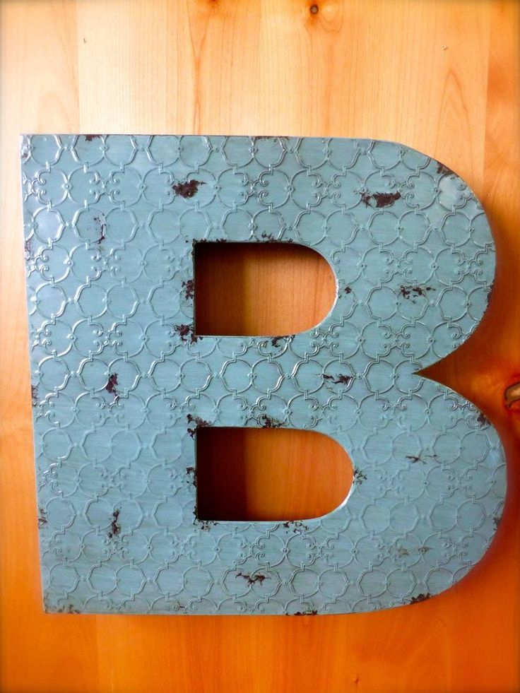 Metal Letter B Wall Decor : Best ideas about metal wall letters on