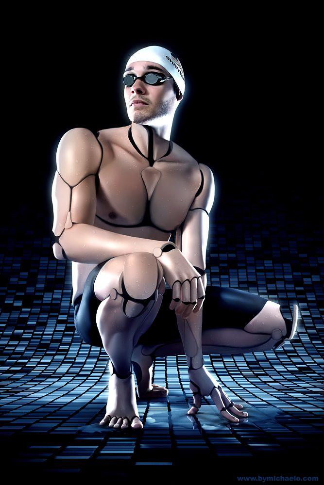 Comunicación digital-robots del presente y del futuro / AmalagMATE Swimmer by MichaelO