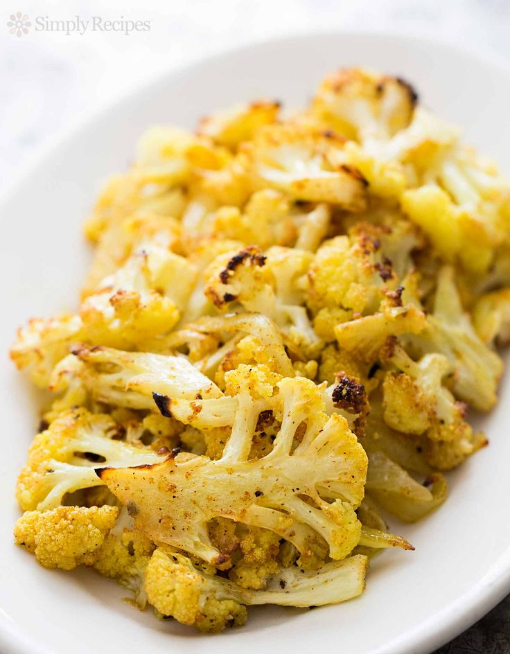 Curry Roasted Cauliflower from Elise at Simply Recipes. This is the only way I can stand cauliflower... it's like magic.