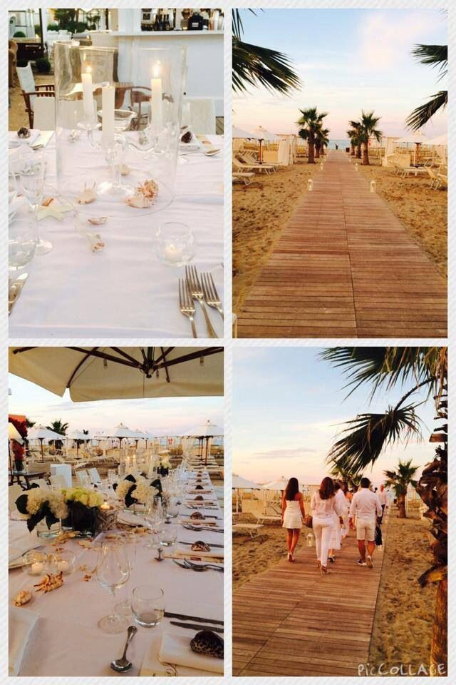 White party on the beach - welcome drink near the sea side -  show cooking - dinner and after djset - total white party and wedding - festa in total white in spiaggia con cocktail di benvenuto in riva al mare, cena in spiaggia con show cooking e poi animazione e djset perfectday.it weddingitalianstyle.co.uk wedding & events planner Italy Italia