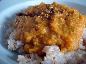Indian red lentil curry #vegan #quick