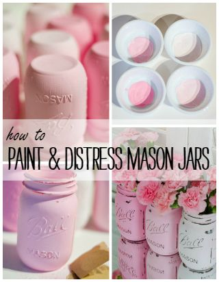 Annie Sloan Chalk Paint Mason Jars | Mason Jar Crafts Love