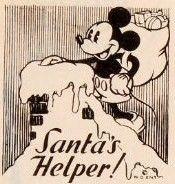 Vintage Disney Christmas Card... Walt Disney Enterprise.