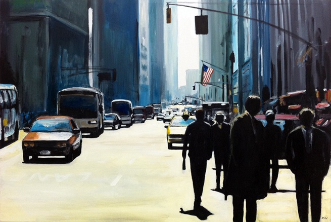 Angela Wakefield Urban Landscape Painter @ Ascot Studios Contemporary Art Gallery