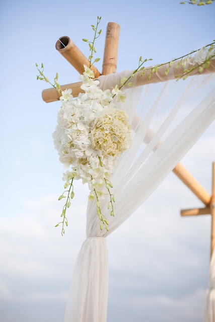 Beach Wedding Ceremony - how to connect the poles