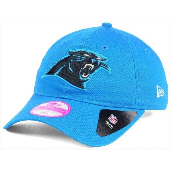 New Era Women's Carolina Panthers Team Glisten 9TWENTY Cap ($24) ❤ liked on Polyvore featuring accessories, hats, black, carolina panthers hat, new era hats, caps jerseys, new era cap and carolina panthers jerseys