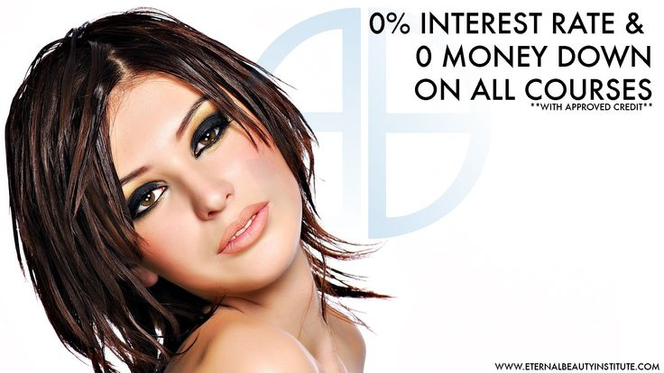 GREAT NEWS, GREAT NEWS LADIES & GENTS! You can start your career with ZERO down, and ZERO interest rate with Eternal beauty institute! What are you waiting for? BOOK TODAY! www.eternalbeautyinstitute.com 1.866.330.9490