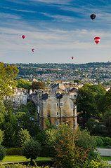 Anja Van Geert Art - Balloons over Bath  by Anja Van Geert