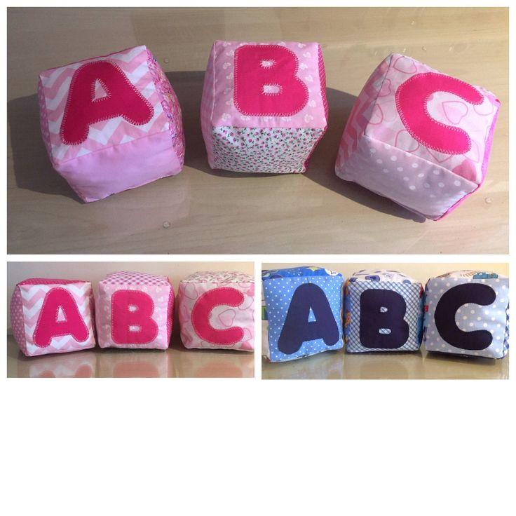 Fabric Cubes ABC Nursery Decor Baby Shower Gift ❤