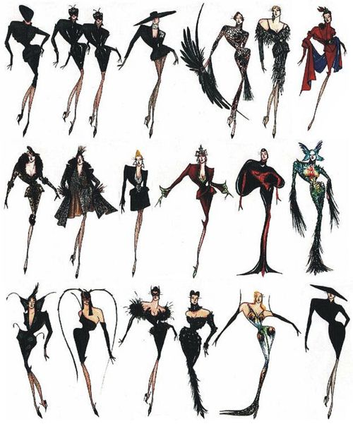 Fall 1997 Haute Couture Collection Sketches. Bring back the devil shall we?